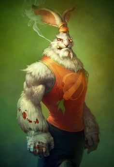 Serious bunny by ~Rahmatozz on deviantART via PinCG.com