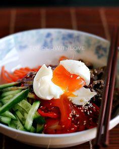 Beef Bibim Guksu / Bibim Naengmyeon (Mixed Cold Noodles)
