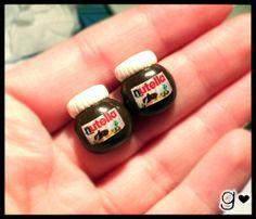 Nutella inspirado pendientes miniatura por GabriellesCreations, $20,00