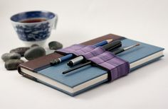 Journal Bandolier / pencil roll for around your book / Purple fog - found on etsy, but maybe i could do this?