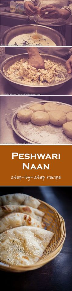 Authentic Peshwari Naan - Beautifully soft Indian flatbread filled with a luscious dried f..., ,