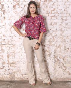 #debrummodas #verão #coleção #calça #flare #blusa #figurativa #estampa #modafeminina #moda #style #estilo #fashion