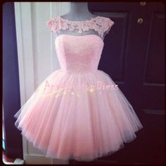 Short Pink Sequins Bead Tulle Backless Lace Prom Dress Knee-length Cheap Graduation Dress Formal Dress Cocktail Dress Homecoming Dress 2014 on Etsy, $109.00