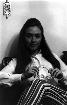 Hillary Before Bill. Lee Balterman. Curated by your friends at  https://createamixer.com/