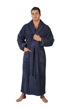 42c3af65b8 MEN S 100% PREMIUM PIMA COTTON BATHROBE MADE IN TURKEY FULL LENGTH LONG ROBE   ARUS