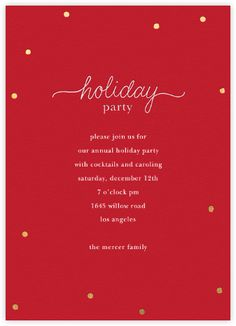 theres no season like the holiday party season invite your guests to partake in the holiday spirits with online party invitations - Holiday Cards Online