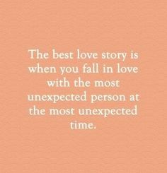 The best love story... we both took risks to be together.... And, turns out, it was more than worth it!