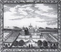 Cornelis Elandt, Gezicht op het huis Duivenvoorde, 1667, gravure, 23 x 27,5
