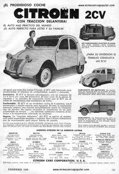 La publicidad del Citroen 2 cv! Auto bueno y barato!