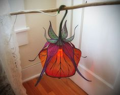 Silk Lantern Flower Hanging Lamp - Thumbnail 2