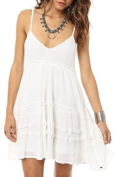 O'Neill 'Kathleen' Babydoll Dress available at #Nordstrom