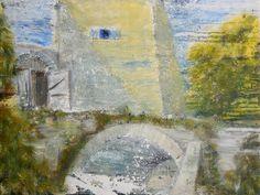 Öl Acryl Gemälde Wasserburg Neuhaus Turm Brücke Tor Hajewski Leinwand Leinen