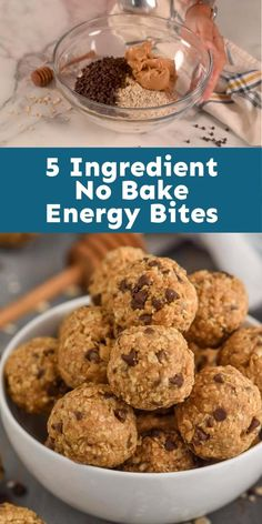These very easy to make Energy Bites are the perfect snack for kids and grown ups! Spicy Recipes, Great Recipes, Favorite Recipes, Easy Recipes, Keto Recipes, Oatmeal Energy Bites, No Bake Energy Bites, No Bake Desserts, Easy Desserts