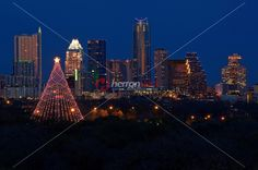 A tradition since 1967, the annual lighting of the Zilker Tree is one of the Austin's most popular and recognized events.It's not technically a tree but rather one of the original Moonlight Towers (Austin's first illumination system, way back in 1894, consisted of 31 carbon-arc lamps on 150 foot tall wrought iron poles). The Zilker Tree is constructed of 39 streamers which hold 3300 individual bulbs in a spiral design. There is also a large, double star comprised of 150 individual frosted…