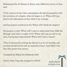 Contemplating the Qur'an.