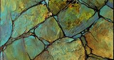Geologic Abstract Demo, 8x10 inches, by Carol Nelson