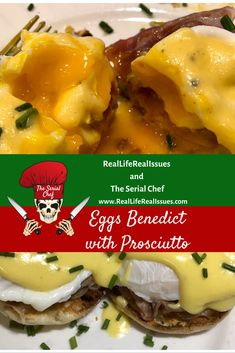 This Eggs Benedict recipe is made with love and prosciutto! Mexican Breakfast Recipes, Brunch Recipes, Seafood Recipes, Cooking Recipes, Cooking Ideas, Yummy Recipes, Breakfast Pizza, Breakfast For Dinner, Breakfast Bowls