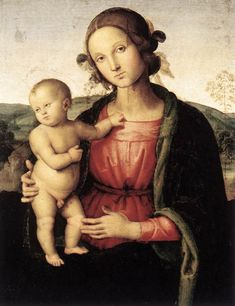 Pietro Vannucci detto Perugino | Madonna and Child, 1495, oil on canvas. Galleria Nazionale d' Arte Antica, Roma