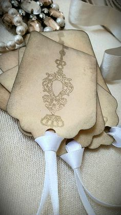 Set of 6 vintage inspired distressed gift tags by LiziLoves, £2.00