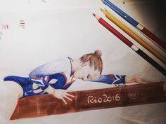"""Mi piace"": 325, commenti: 7 - Francesca Ganassi ☮ (@francisg__) su Instagram: ""@swevers.gymnastics 🌅 #orange #olympic #art #sketch #instadraw #draw #drawing #paint #painting…"""