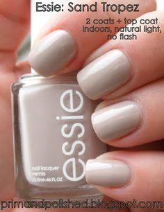 Essie sand topaz- I jut bought this ! My first  Essie nail polish ever and I'm soooo excited to try it! I wanted topless & barefoot but didn't find it :(