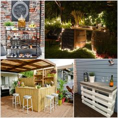 Creative and Low-Budget DIY Outdoor Bar Ideas! | [DIY] Do It Yourself Ideas