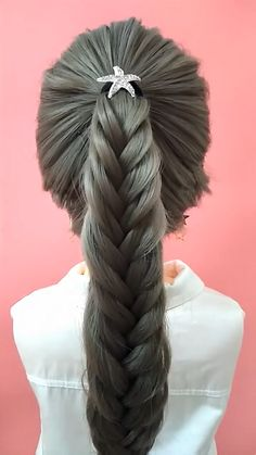 Easy Hairstyles For Thick Hair, Hairdo For Long Hair, Pretty Hairstyles, Front Hair Styles, Beautiful Braids, Bride Hairstyles, Hair Videos, Hair Hacks, Lace Front Wigs