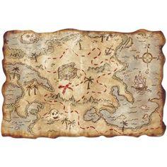 Mapa del Tesoro. Los Piratas del Caribe Foto 1