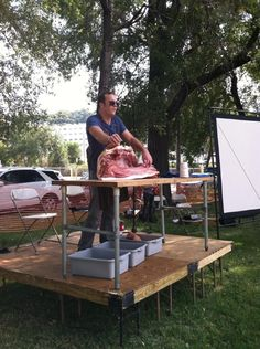 Feast Magazine -  A lesson in the craft of hog butchering from Michael Beard of 715 Restaurant at Knife & Pork 9/27/2014