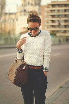 LOOK | Conjunto camisa + malha com um twist