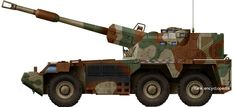 """South Africa (1981) Self-Propelled Howitzer-Vehicle - 145+ built """"Rhino"""", the African Long Range Brawler The G6"""