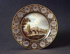 Manufacture de Sèvres, Assiette représentant la ville de Limoges  Assiette en porcelaine, manufacture royale de Sèvres, 1827.  23,8 cm de diamètre, 3 cm de hauteur (ADL10916). © Musée national Adrien Dubouché  Photo : Patrice Meilhac © Musée national Adrien Dubouché  - See more at: http://geo.culture-en-limousin.fr/Assiette-representant-la-ville-de#sthash.dppuo7zX.dpuf