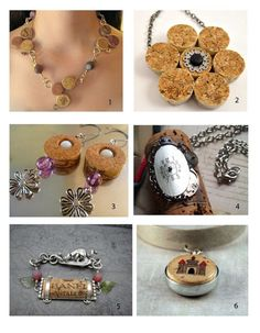Wine cork crafts - jewelry
