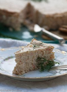 Savory Smoked Salmon Cheese cake...perfect appetizer for a holiday party.