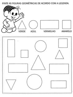 PÚBLICO ALVO:  Alunos de  1º ano.   CONTEÚDO Formas geométricas    OBJETIVO Identificar, comparar e classificar as formas geométricas: quadrado, retângulo, círculo e triângulo. ... Kindergarten Activities, Activities For Kids, Counting In 5s, English Activities, Math Worksheets, Kids Education, Classroom Management, Free Books, Kids Learning