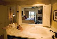 A bubble bath? Yes, it looks wonderful and relaxing!  Read more about it at http://traveltogatlinburg.com/the-lodge-at-buckberry-creek-reviewed/