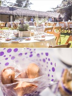 outdoor wedding reception ideas (Potted Lavender) Visit http://www.brides-book.com for more great wedding resources