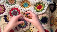 Indie Lovely Half Starflower Hexagon Crochet Pattern And Join As You Go Tutorial - YouTube