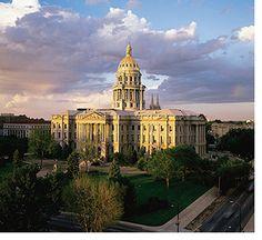 Denver State Capitol under a beautiful sky.
