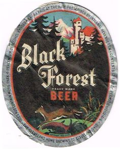 Labels Black Forest Beer  Cleveland Home Brewing Co.(Post Prohibition) Cleveland Ohio United States of America