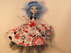 Retro Rockabilly Dress for Monster High by FreakGearbyHM on Etsy, $14.00