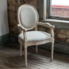 Whitewash Country Armchair