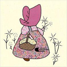 """Sunbonnet Sue Quilt Blocks Vintage Reproductions Lot of 10 (8""""x8"""") #FabricFotosreproductions"""