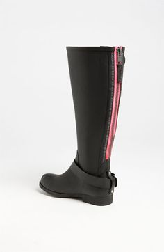 Steve Madden 'Tsunamii' Contrast Zip Rain Boot (Women) | Nordstrom now that's a good looking rain boot