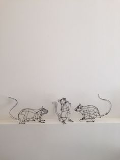 Three adorable mice
