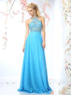 CR730 Cinderella Divine Halter Top Beaded Dress
