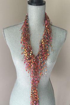 Sale 25% off Skinny Scarf Necklace  Sunrise by ScarfLadyFashions