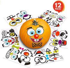 Pumpkin decorating stickers Halloween Arts And Crafts, Halloween Favors, Halloween Activities For Kids, Halloween Stickers, Cute Halloween, Halloween Pumpkins, Halloween Decorations, Crafts For Kids, Pumpkin Carving Kits