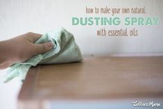 DIY Natural Dusting Spray Recipe | Wellness Mama