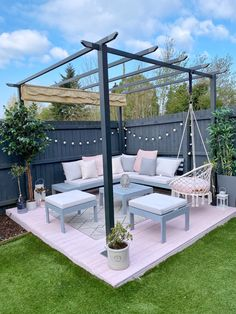 Ive given my decking area a little refresh with some pink and grey cuprinol garden paint